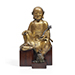 A very rare gilt-bronze figure of Vajraputra, 14th-15th century