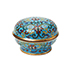 SMALL CLOISONNE ENAMEL 'LOTUS' BOX AND COVER