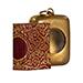 Miniature printed Qur'an, in Arabic, 27 by 19 mm