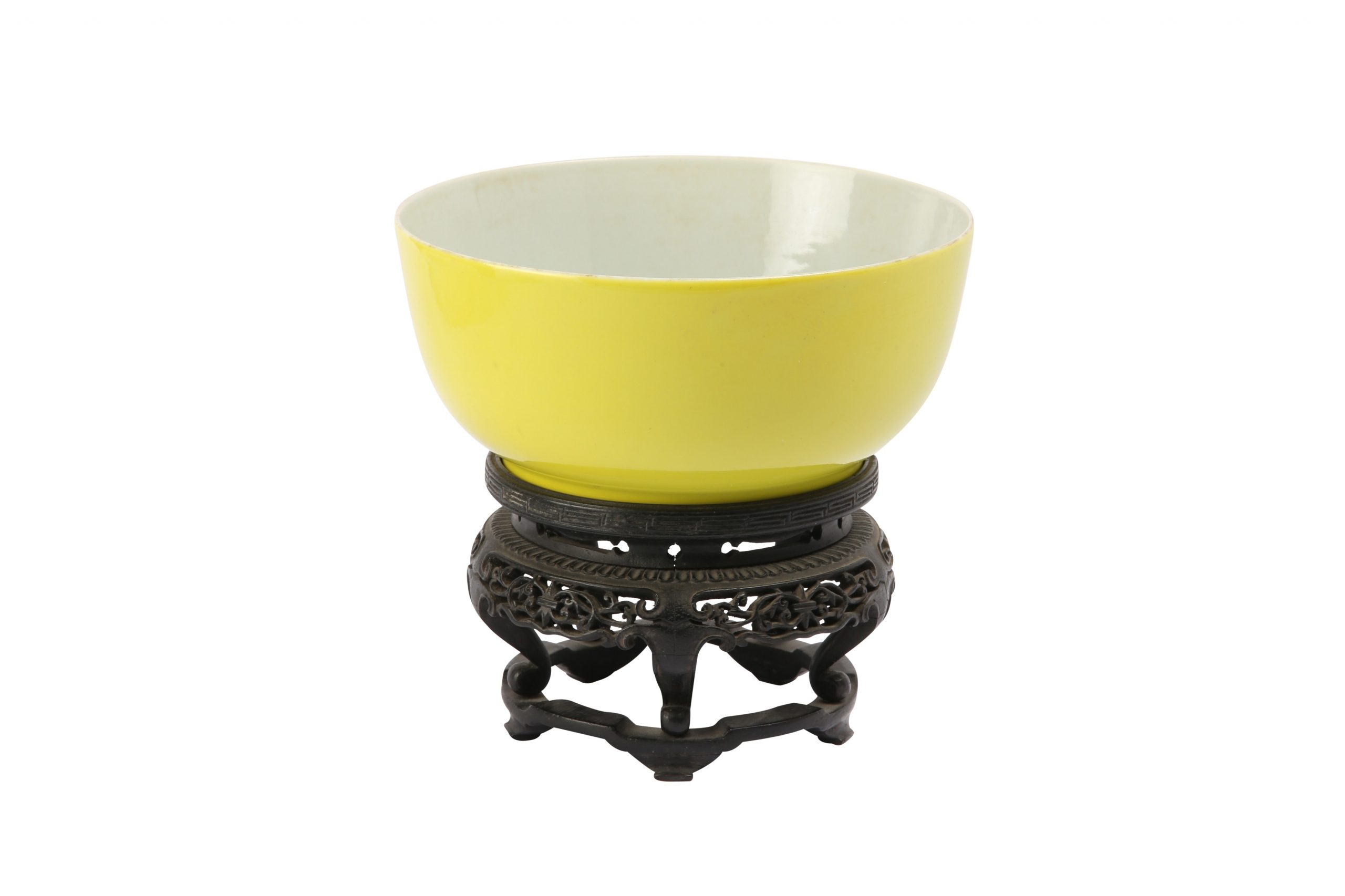 A Chinese lemon yellow-glazed bowl, Qing Dynasty, Yongzheng mark and of the period. Estimate: £10,000 – 20,000