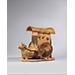 Amber Glazed Pottery Ox Cart