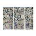 A set of three Chinese wallpaper panels