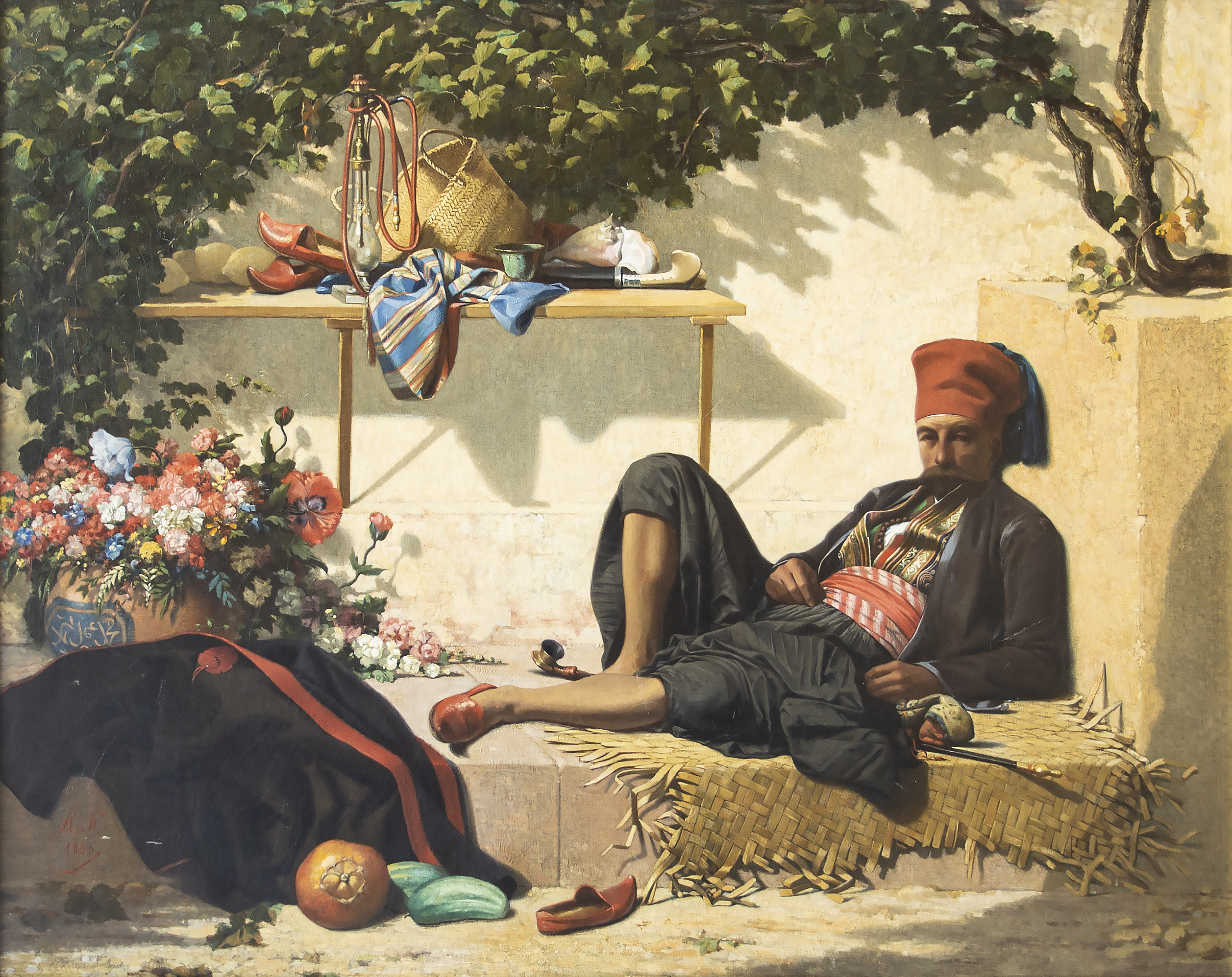 A Seated Arnaut Warrior Relaxing, nineteenth century