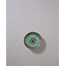 Bronze Buckle ornament with turquoise and agate inlay