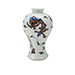 RARE COPPER RED AND UNDERGLAZE BLUE AND WHITE 'CHILONG' VASE