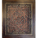 An Ilkhanid or Early Timurid Carved Wood Panel with Geometric Design