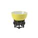 A Chinese lemon yellow-glazed bowl