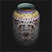 A Chinese famille rose lantern 'lotus' vase