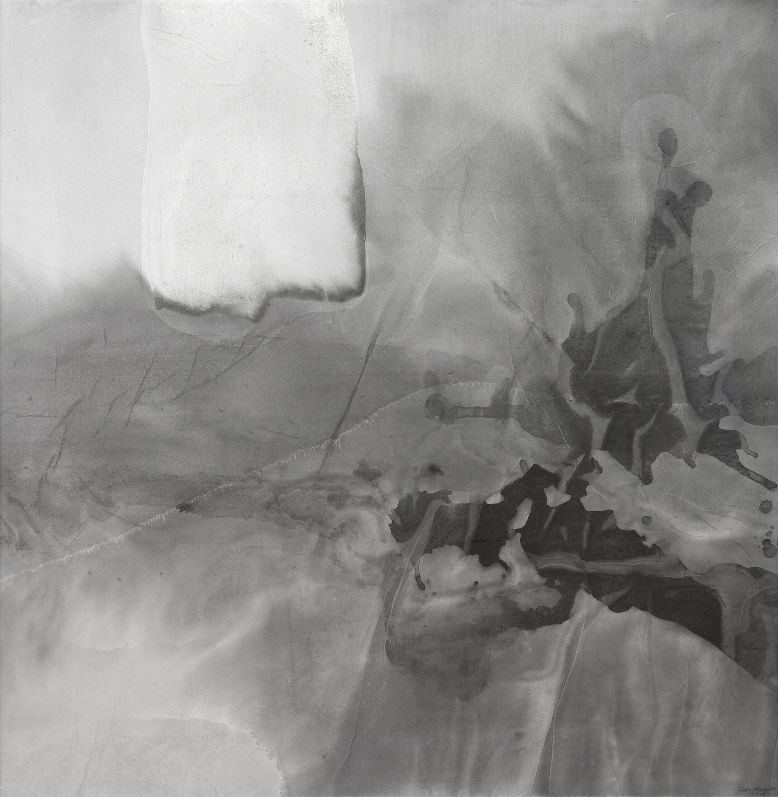 Gao Xingjian Improbable, 2014 Signed and dated lower right Ink on paper 91 x 90 cm