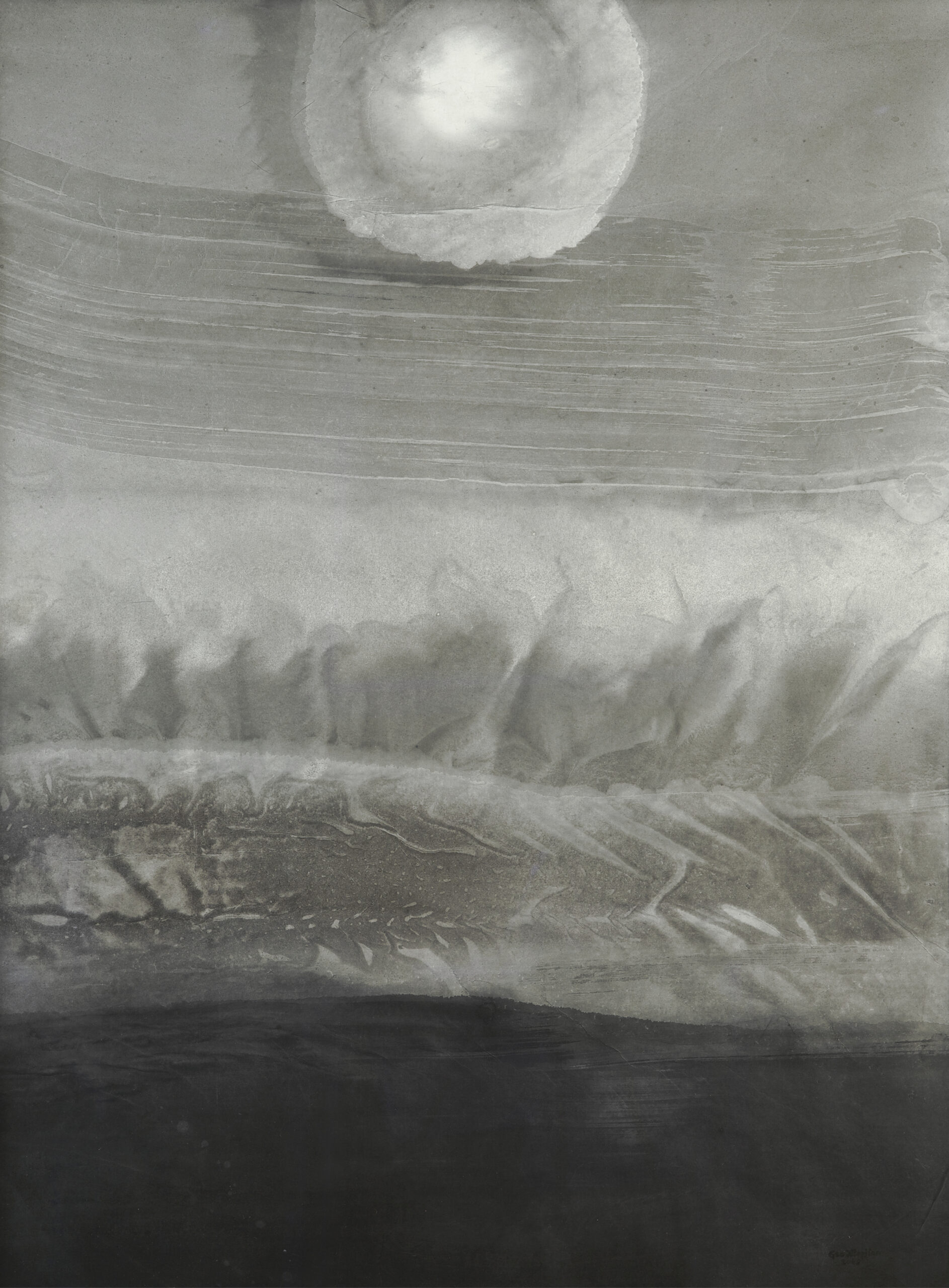 Gao Xingjian Midnight, 2013 Signed lower right Ink on paper 50 x 38 1/8 inches 127 x 97 cm