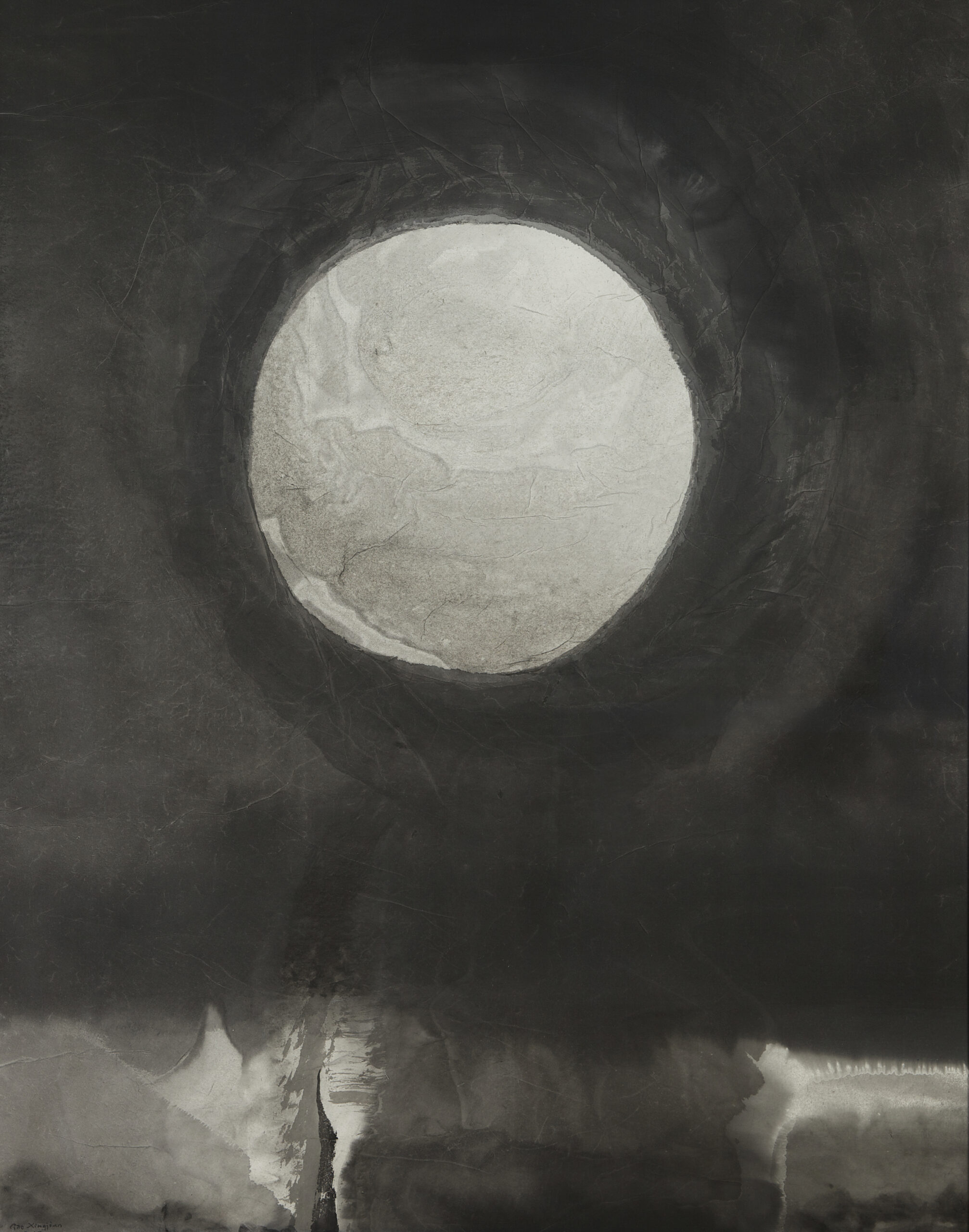 Gao Xingjian Under The Moon , 2016 Signed and dated lower left Ink on paper 115.5 x 91 cm
