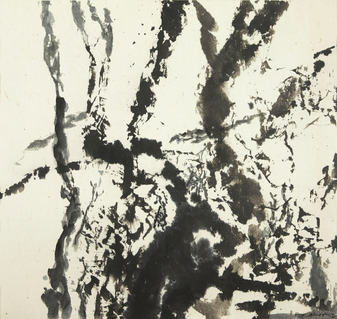 Zao Wou-Ki, Untitled, 1995 Signed and dated lower right Ink on paper 58 x 60.5 cm