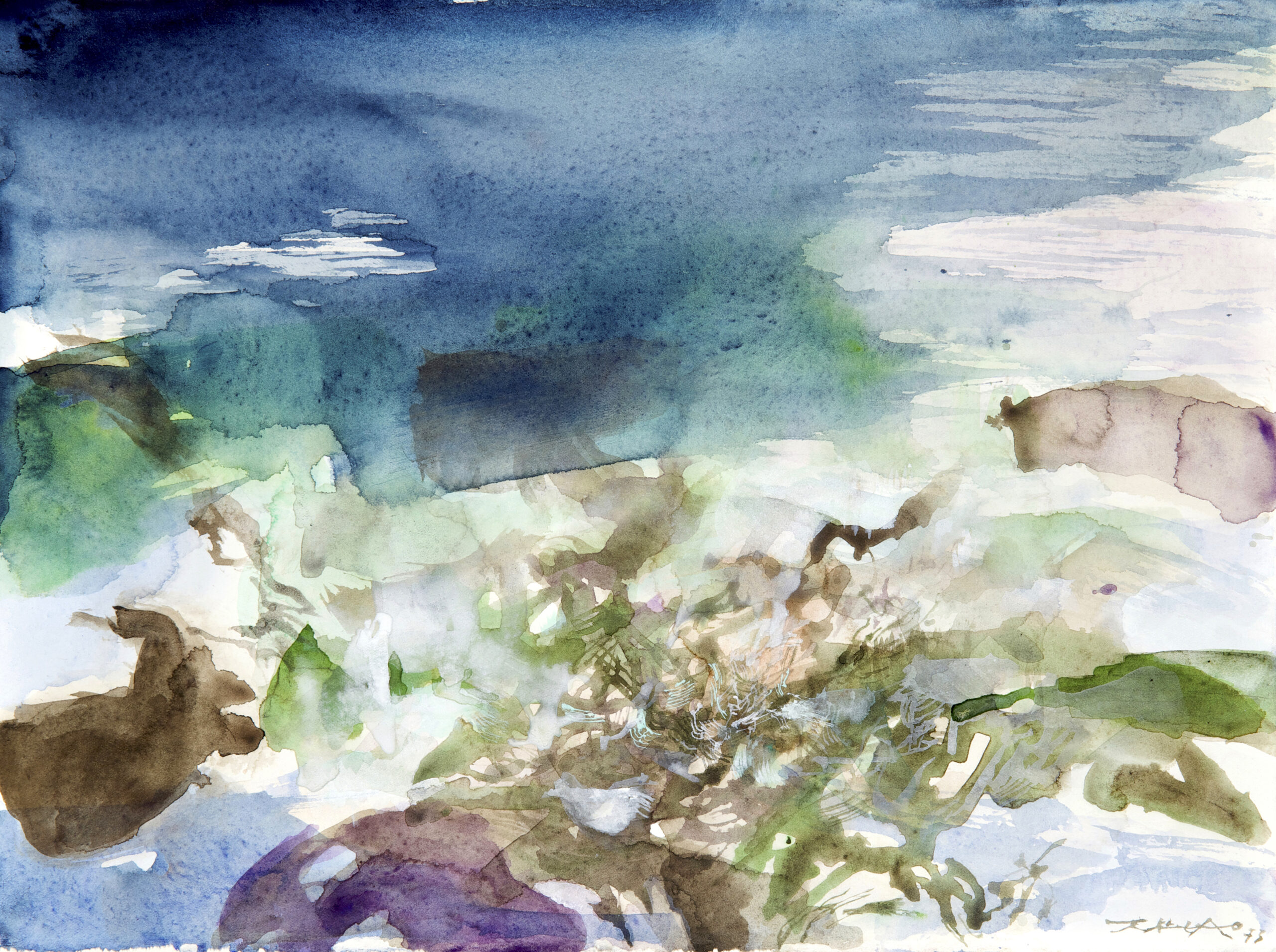 Zao Wou-Ki, Untitled, 1973 Signed and dated lower right Watercolour on paper 28.5 x 38 cm