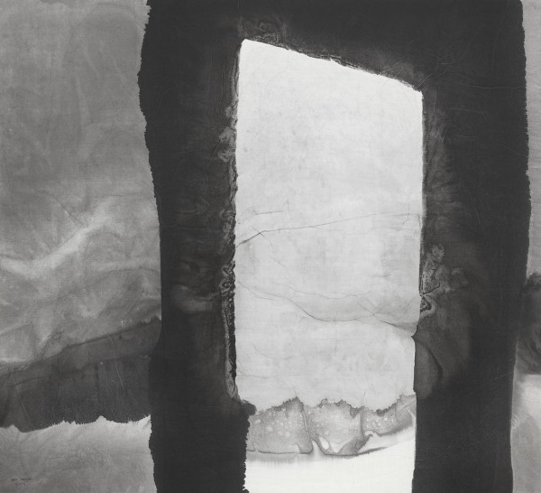 Gao Xingjian Landscape Behind the Door, 2004 Signed and dated lower left Ink on paper 97 x 107 cm
