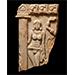 Goddess beside a pillar, Limestone, South India, Andhra Pradesh, c. 3rd century