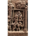Plaque (detail) with a couple on a swing, Terracotta, Eastern India, Bengal, Chandraketugarh area, c. 1st century BCE