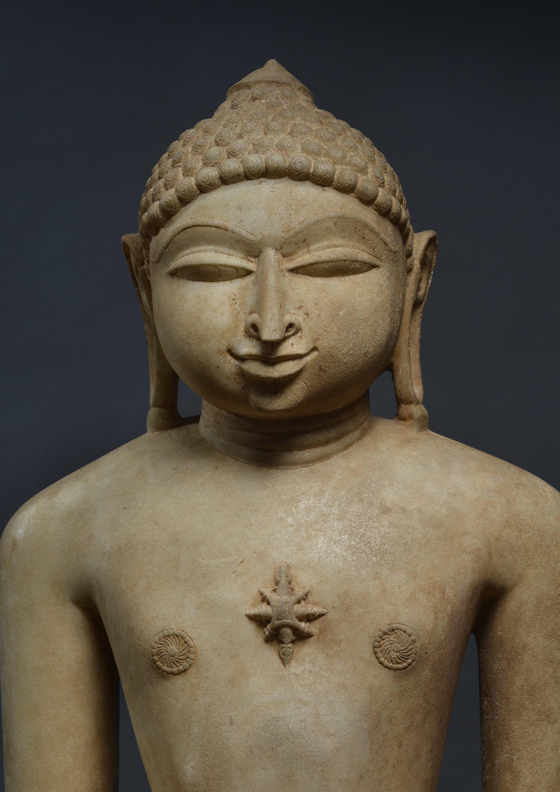 INDIA, JINA NEMINATHA (DETAIL), SOLANKI PERIOD, DATED 1168 AD, H.: 74CM