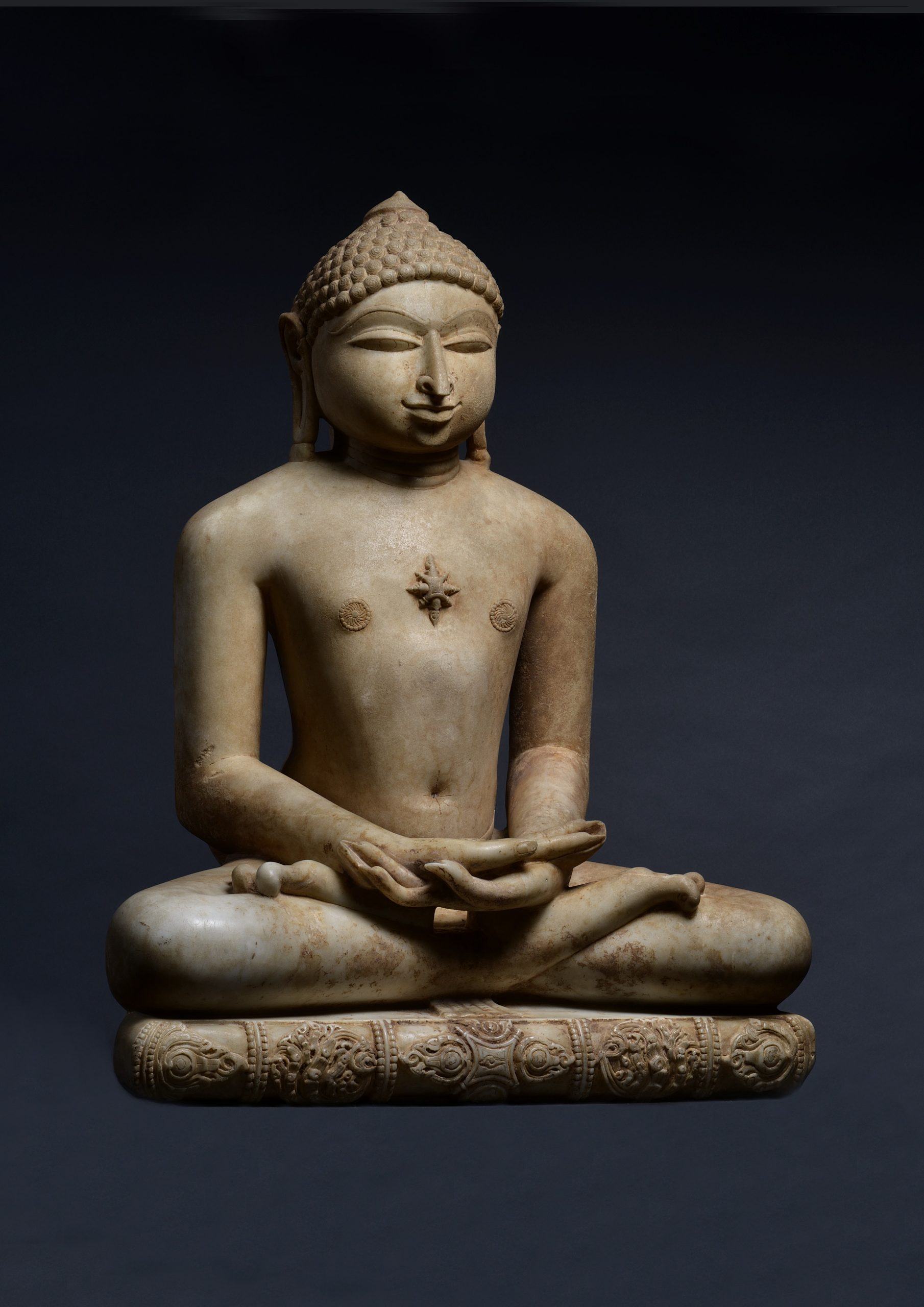 INDIA, JINA NEMINATHA, SOLANKI PERIOD, DATED 1168 AD, H.: 74CM