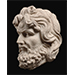 Head of a bearded man, Marble, Central Asia, 2nd/3rd century