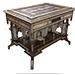 λ a large and impressive hardwood Mother-of-Pearl and Ivory-Inlaid orientalist table