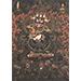 Thangka (detail) depicting Black Mahakala-Go Gompo, Pigments on cloth, Tibet, 17th century