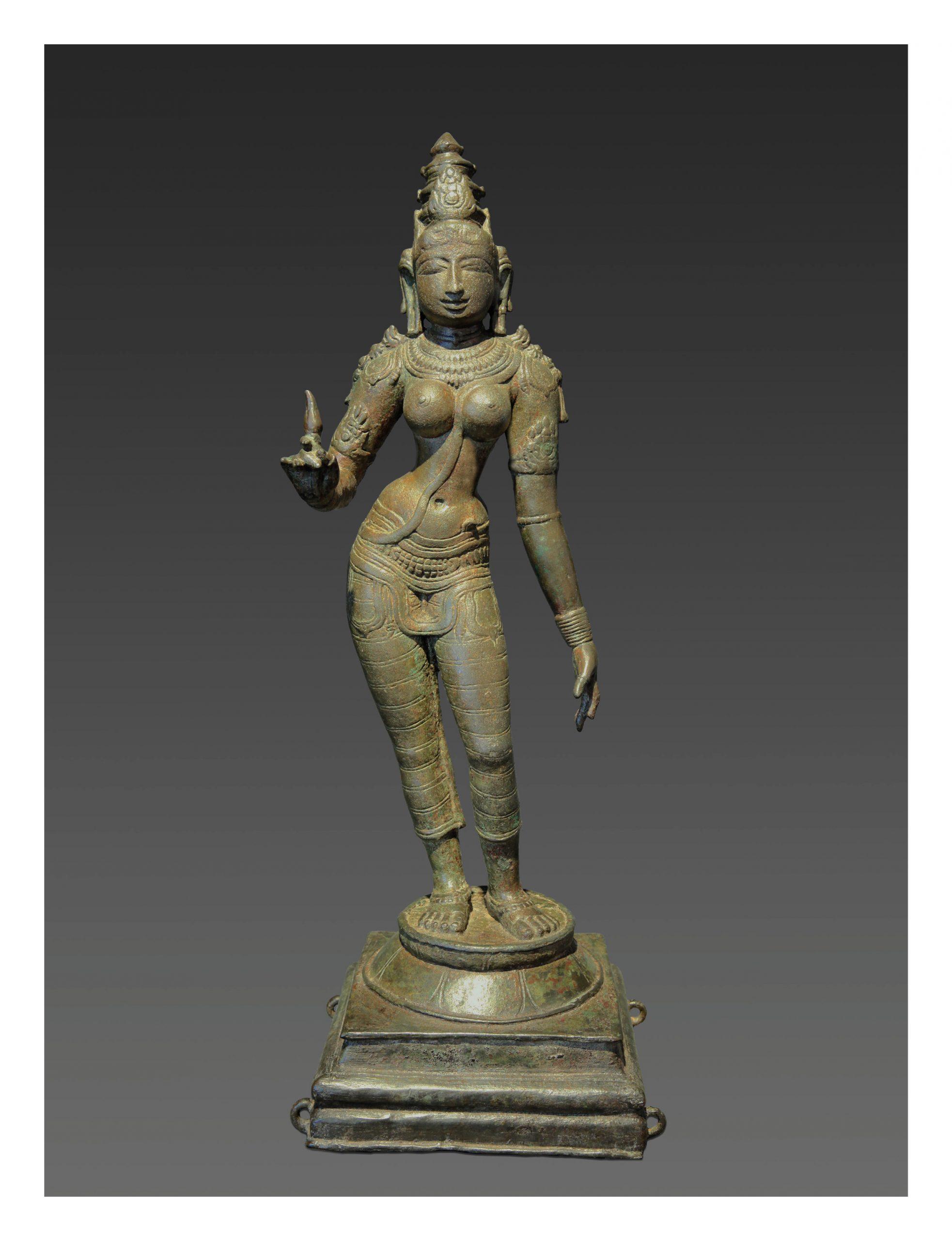 INDIA, PARVATI, CHOLA DYNASTY, 11TH CENTURY, H.: 63CM