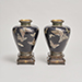 Cloisonne silver wire vases