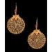A Pair of Gold Filigree Earrings Gujerat 19 - 20th Century