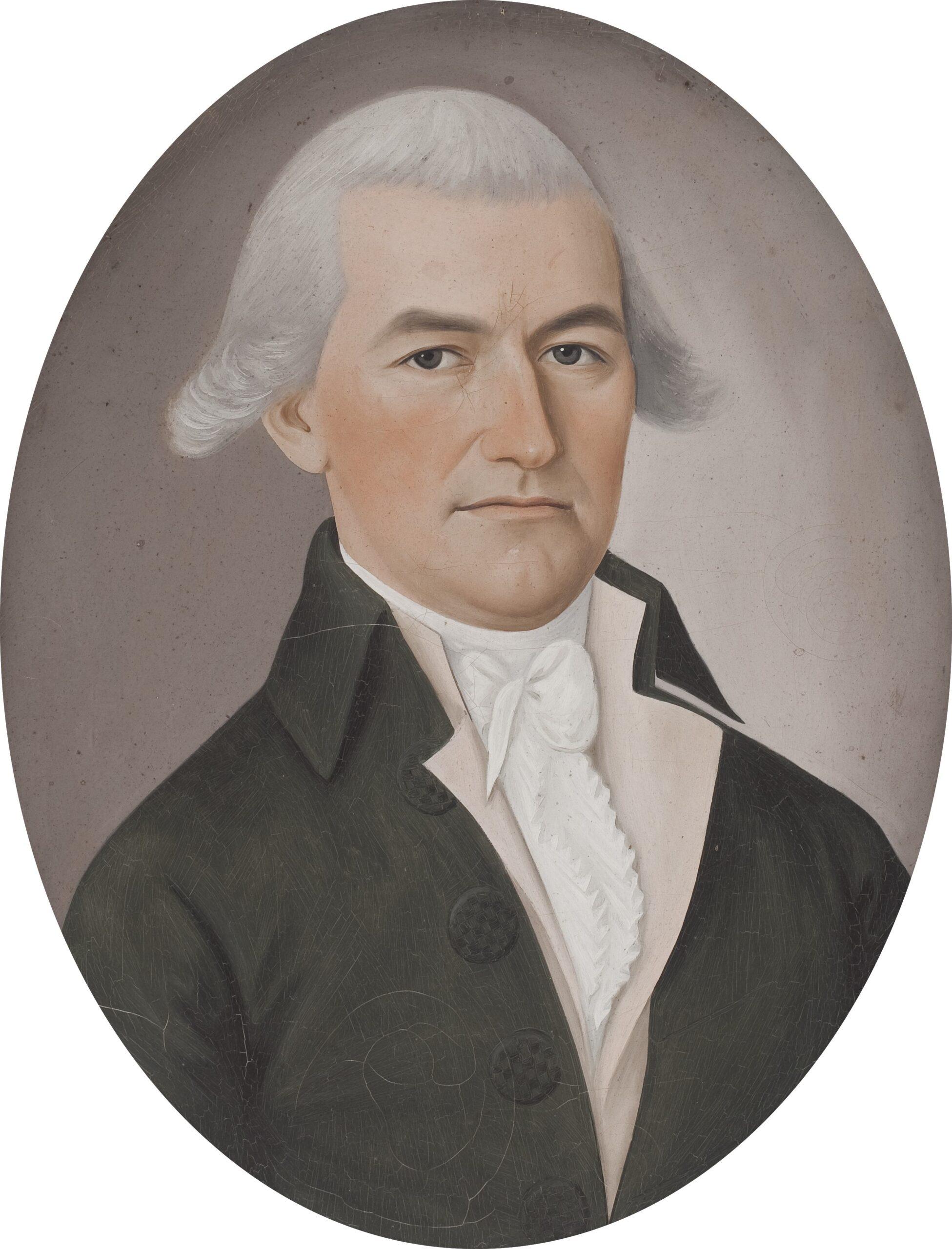Spoilum (fl. 1774 - 1805) Portrait of Samuel Blanchard Oil on canvas, 17 x 13 1/2 in (oval)